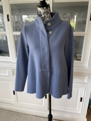 il vento & la seta Blazer en maille tricotée bleuet