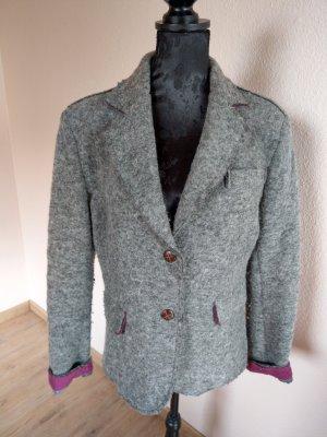 your & self Blazer de lana gris oscuro