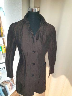 St. emile Sweatblazer donkerbruin-zwart bruin