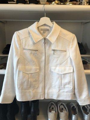 Blazer Jacke in weiß Silber