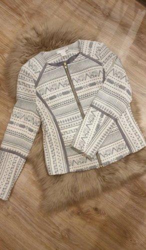 H&M Gebreide blazer grijs-beige