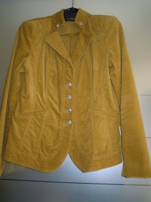 Blazer / Jacke v. APANAGE, Gr. 42, Herbsttrend messinggelb, Stretch-Samt