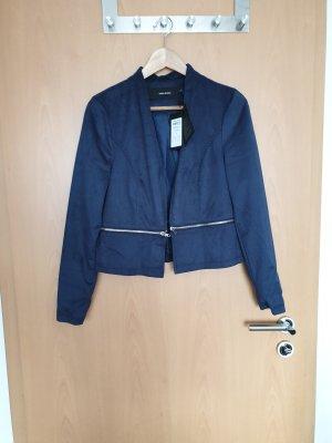 Vero Moda Korte blazer blauw-donkerblauw