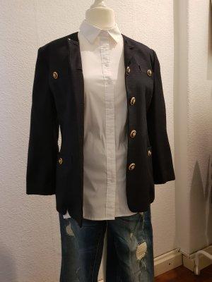 Blazer, Jacke vintage dunkelblau gold unikat abnehmbarer Kragen