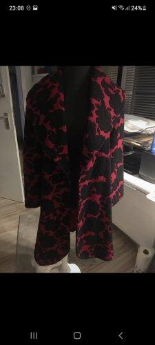 Kurtka oversize czarny-czerwony neonowy Tkanina z mieszanych włókien