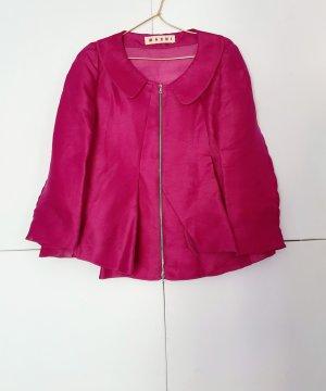Marni Veste courte rouge framboise-magenta soie