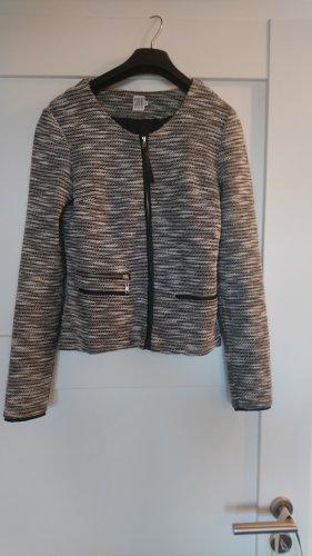 Blazer-Jacke von Saint Tropez - schwarz-weiß - Gr. XS - NUR NOCH BIS 6.10.!
