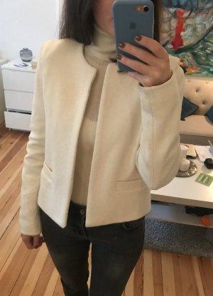 Blazer Jacke weiß beige creme Struktur S