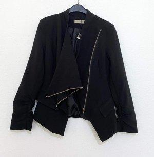 Blazer en jean noir-doré