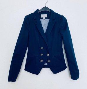 H&M Blazer stile Boyfriend blu-blu scuro