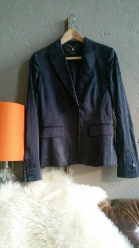 Blazer Jackett Business Mango Nadelstreifen blau Seidenglanz offiziell 38, fällt aus wie schmale 36, auch 34 geeignet
