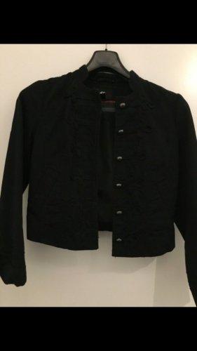 H&M Blazer black-silver-colored