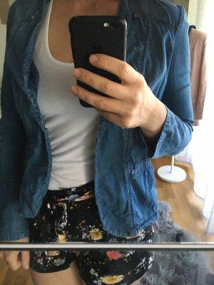 Sandwich Blazer in jeans blu