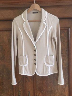 Joseph Janard Knitted Blazer camel-white cotton