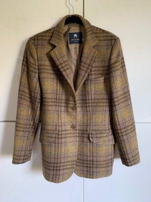 Alberto Aspesi Long Blazer grey brown wool