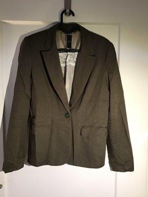 Zero Jersey blazer khaki-olijfgroen