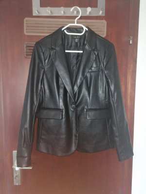Amisu Leather Blazer black