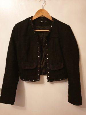 Blazer kurze Jacke mit Nieten in schwarz Gr. S