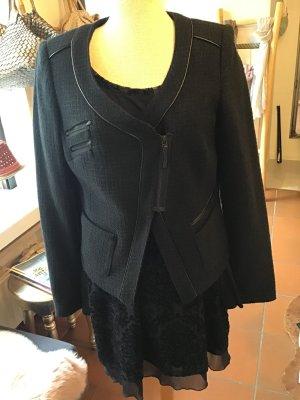 Bonita Korte blazer zwart Gemengd weefsel