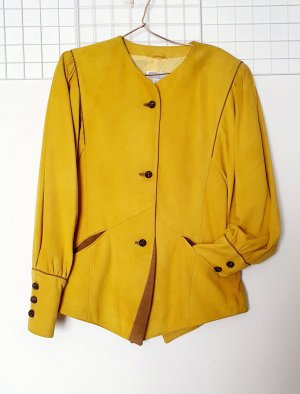 Ae boutique BY ELEGANCE S.A. PARIS Blazer in pelle color cammello-giallo Pelle