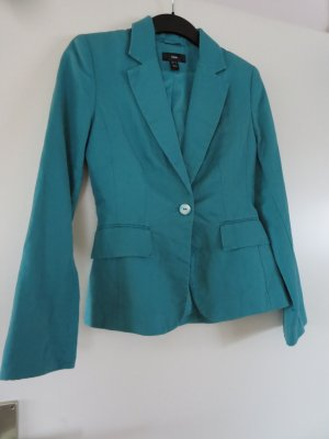 H&M Klassischer Blazer turquoise linen