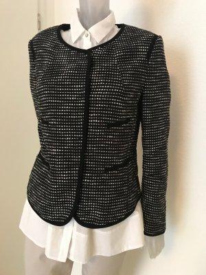 Luisa Cerano Blazer in tweed nero-bianco Cotone