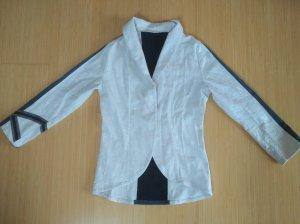 Blazer in jeans bianco-blu scuro