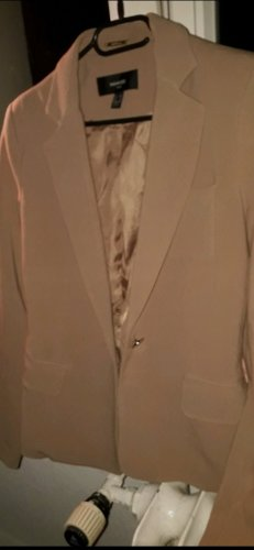 Mango Tuxedo Blazer bronze-colored-grey brown
