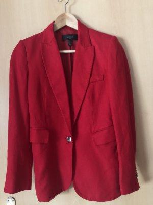 Mango Suit Jersey Blazer dark red