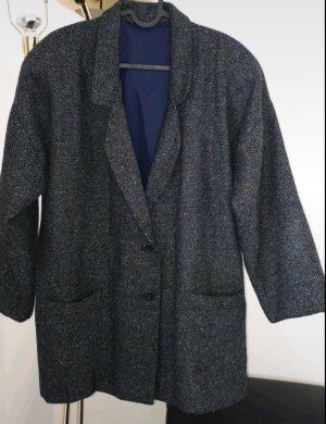 Blazer en laine gris-bleu