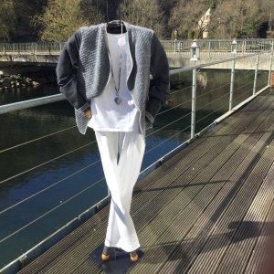 Marc Aurel Blazer in jersey argento