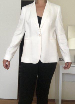 Massimo Dutti Blazer smoking bianco Viscosa