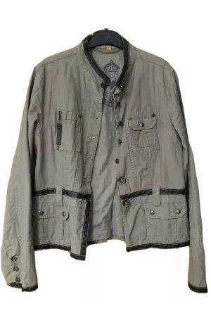 Leather Blazer khaki