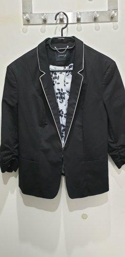 Orsay Veste de smoking blanc-noir tissu mixte
