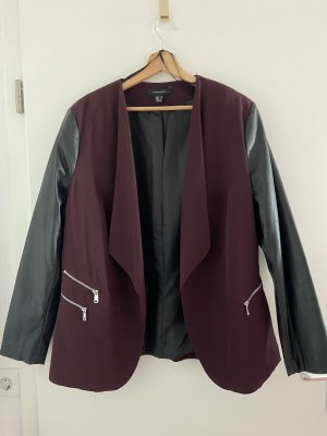 Atmosphere Jersey blazer zwart-bordeaux
