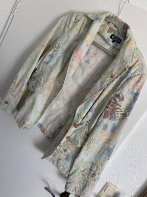 Jersey blazer bos Groen-grijs-groen