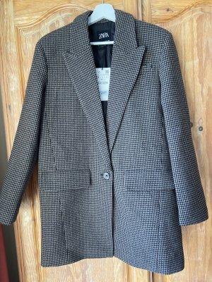 Zara Blazer in lana marrone-nero