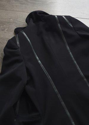 Blazer mit Leder Elementen
