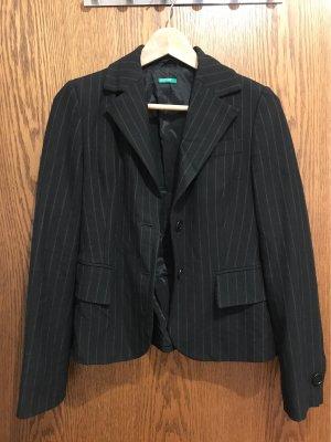 Blazer mit Nadelstreifen von Benetton, schwarz, Gr. 34