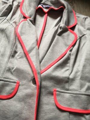 blazer mit neonfarbenen Bund