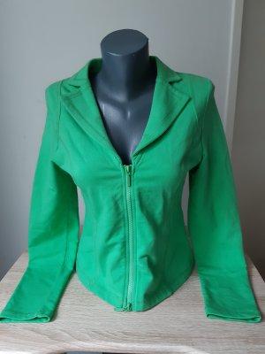 Blazer in jersey verde chiaro-verde neon