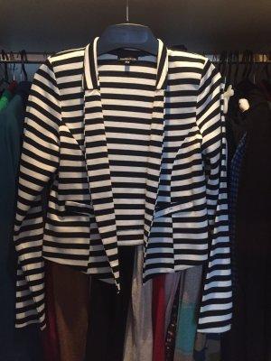 Warehouse Blazer en jersey noir-blanc