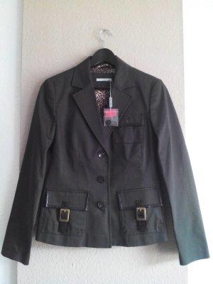 Blazer mit Taschen in khaki aus 97% Baumwolle, Größe 38 neu