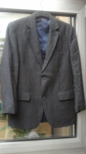 Barisal Veste en jean beige clair-gris ardoise coton