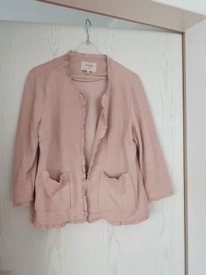 Cream Korte blazer stoffig roze Katoen