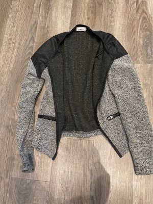 Only Leather Blazer black-silver-colored