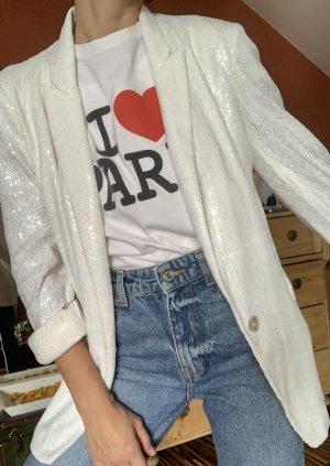 Zara Blazer boyfriend blanc