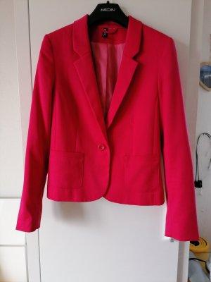 H&M Divided Blazer corto rosa