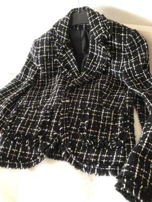 Kostium czarny-biały Wełna