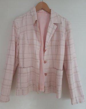 Blazer rosa Pastell kariert